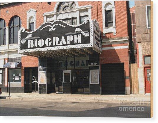 Biograph Theatre John Dillinger's Last Night Out Wood Print