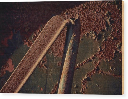 Bipod Wood Print by Odd Jeppesen