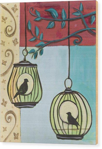 Bird Cage Wood Print