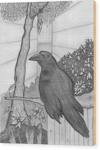 Bird Wood Print by Dan Twyman
