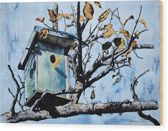Bird House Wood Print