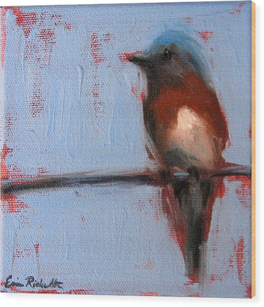 Bird On A Wire II Wood Print