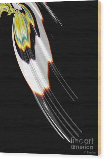 Bird Wing Fractal Wood Print