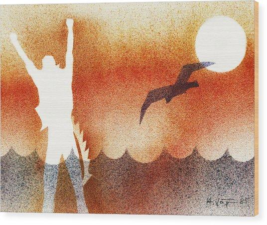 Birdman Wood Print