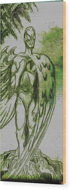 Birdman Wood Print by Jazzboy