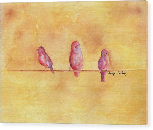 Birds Of A Feather - The Help Wood Print