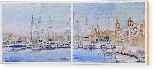 Birgu-senglea Waterfront Malta Wood Print