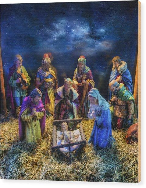 Birth Of Jesus Wood Print