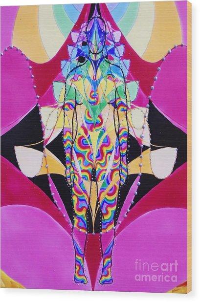 Birth Of The Flying Rainbow Lasagne Wood Print by Nofirstname Aurora