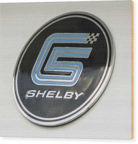 Birthday Car - Shelby Logo Wood Print