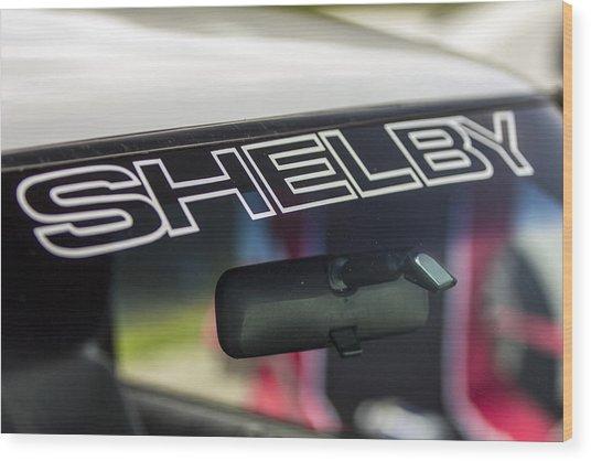 Birthday Car - Shelby Windshield Wood Print