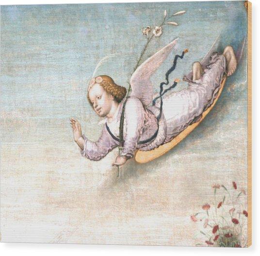 Birthing   Hi  Ive Arrived Wood Print by Phoenix De Vries