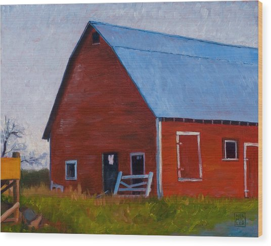 Bishop Barn Wood Print by Stacey Neumiller