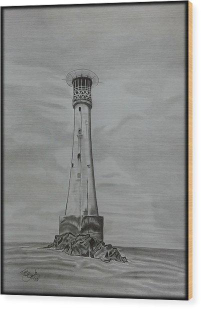 Bishops Rock Lighthouse Wood Print