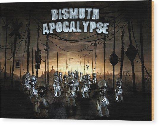 Bismuth Apocalypse Wood Print