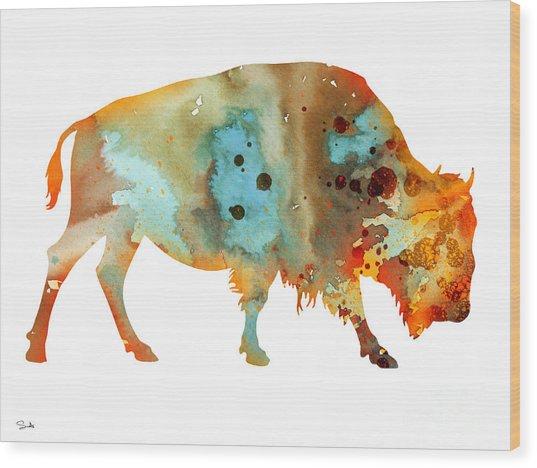 Bison 5 Wood Print