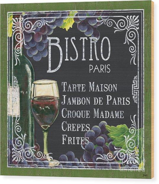 Bistro Paris Wood Print