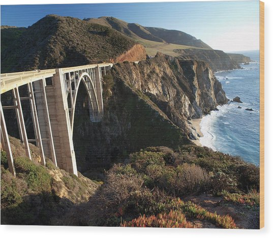 Bixby Bridge Afternoon Wood Print
