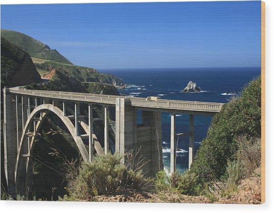Bixby Bridge Wood Print