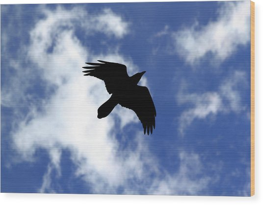 Black Above Wood Print