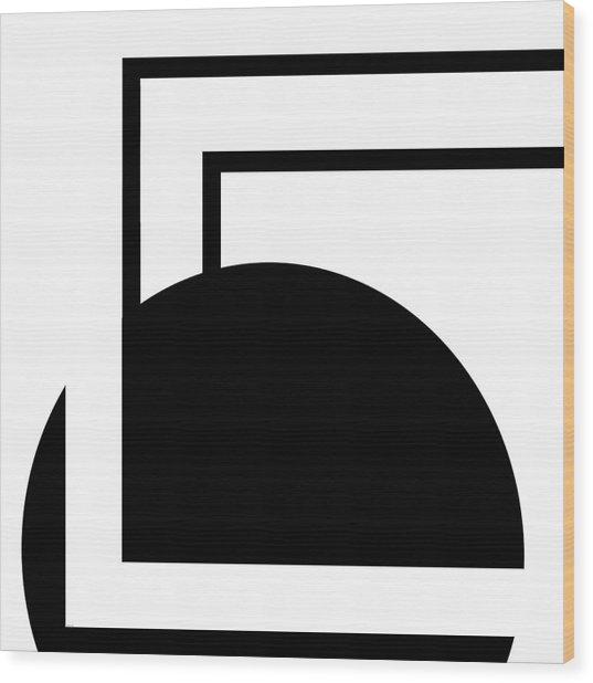 Black And White Art - 127 Wood Print
