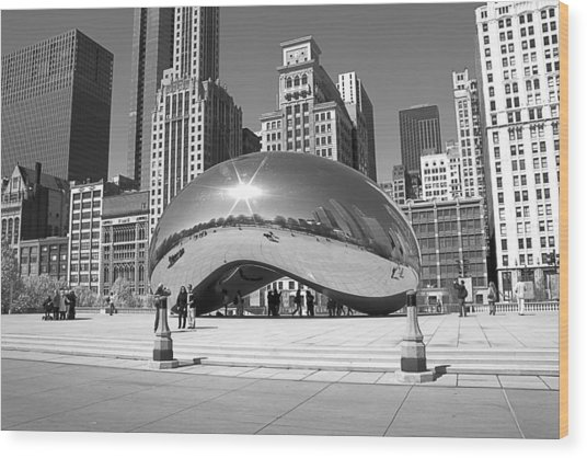 Chicago - The Bean Wood Print