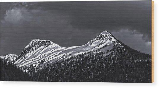Black And White Deer Mountain  005 Wood Print