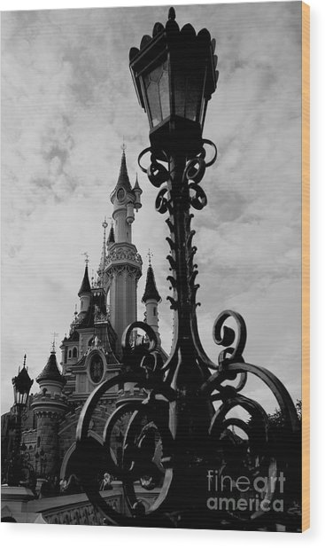 Black And White Fairy Tale Wood Print