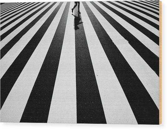 Black And White Wood Print by Kouji Tomihisa