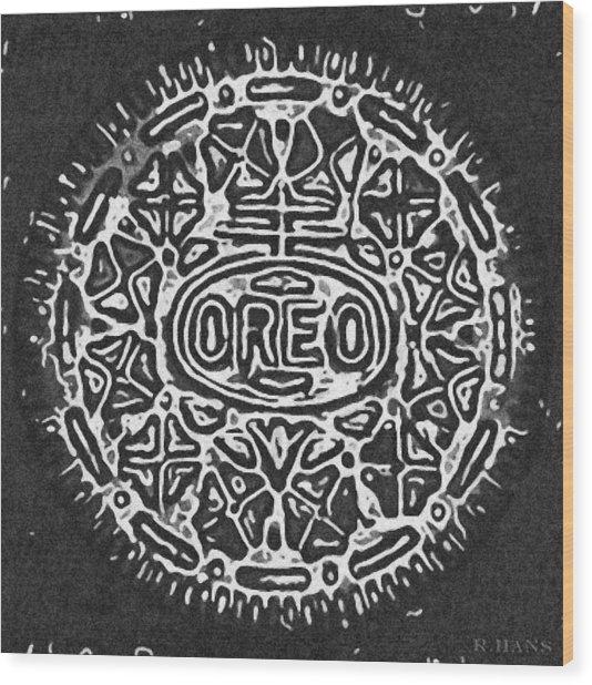 Black And White Oreo Wood Print