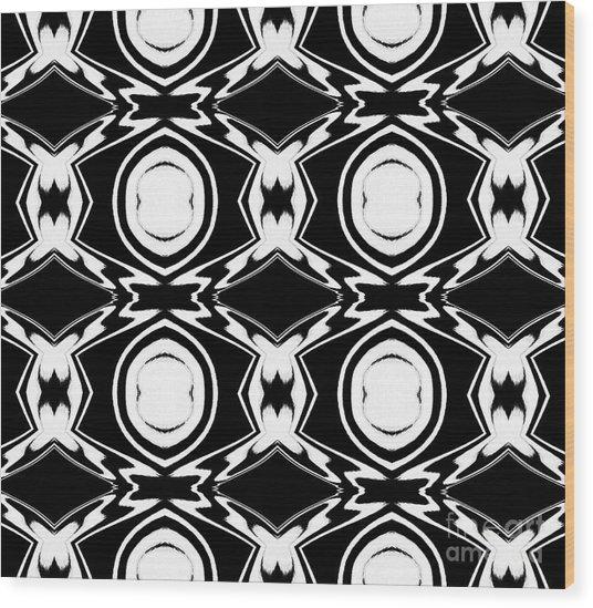 Black And White Pattern Art No.34 Wood Print by Drinka Mercep