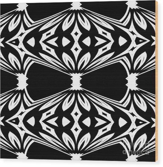Black And White Pattern No.265 Wood Print by Drinka Mercep