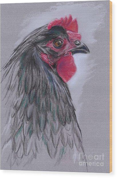 Black Australorp Hen Wood Print