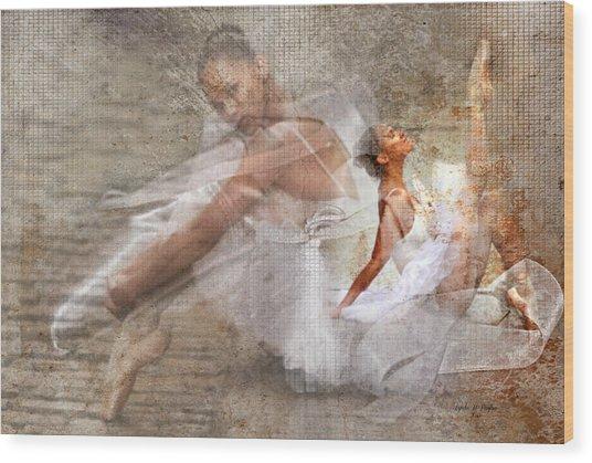 Black Ballerina Wood Print