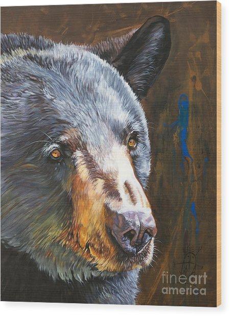 Black Bear The Messenger Wood Print