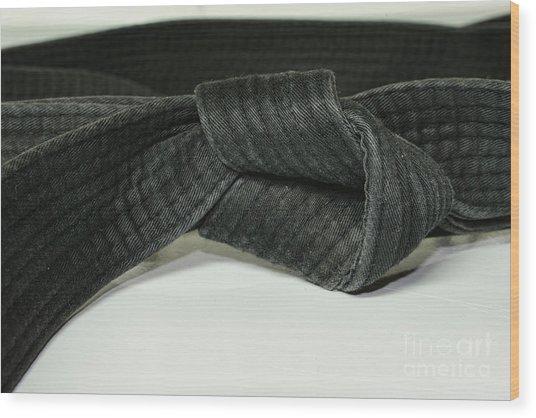 Black Belt Wood Print