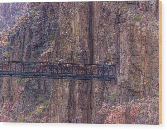 Black Bridge In The Grand Canyon Wood Print