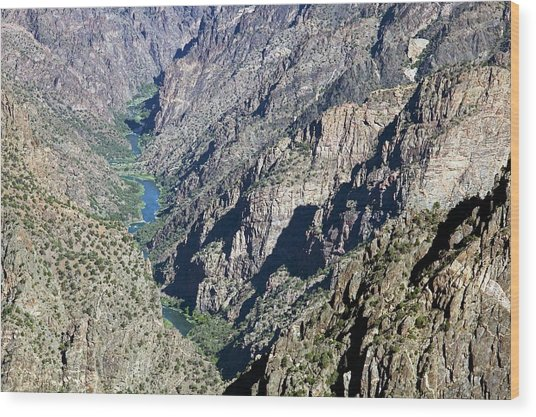 Black Canyon Of The Gunnison Wood Print by Jim West