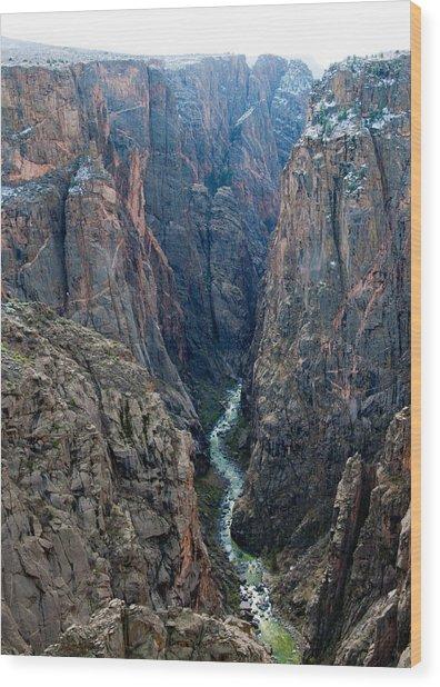 Black Canyon The River  Wood Print