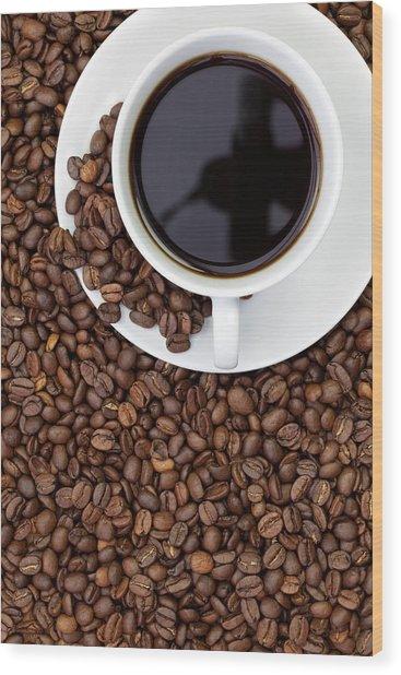 Black Coffee Wood Print by Andrew Dernie