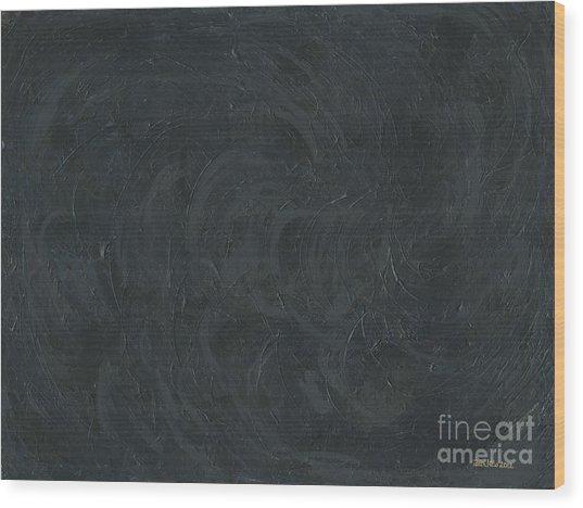 Black Color Of Energy Wood Print