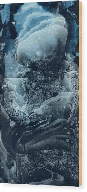Black Corall Wood Print
