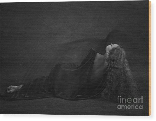 Black Dress Wood Print