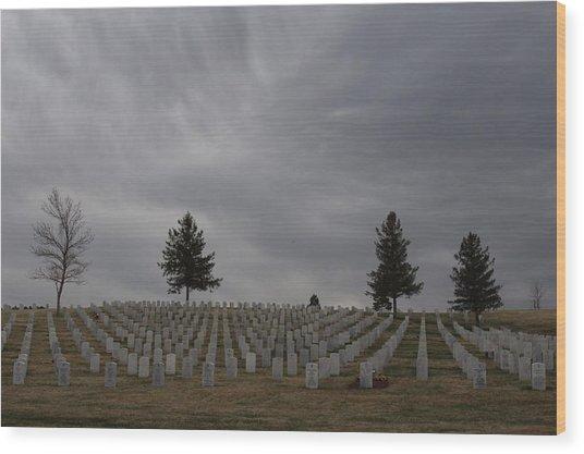 Black Hills Cemetery Wood Print