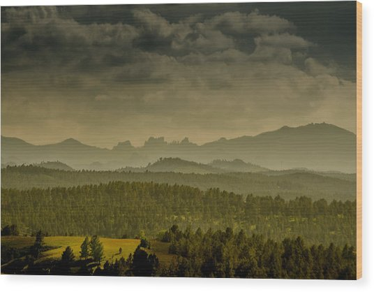 Black Hills Layers Wood Print