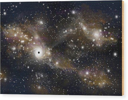 Black Hole No.5 Wood Print