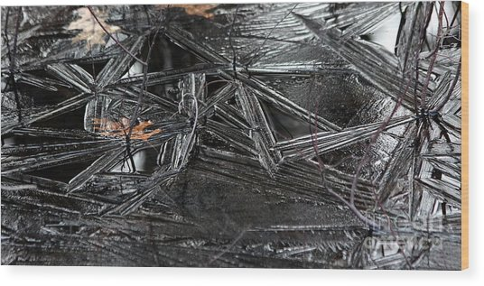 Black Ice Wood Print