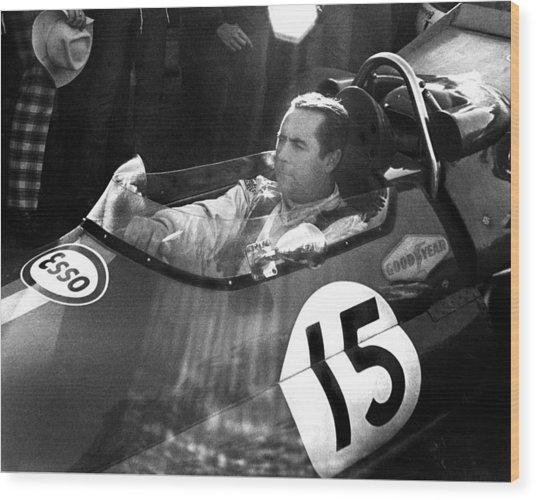 Black Jack Brabham Wood Print