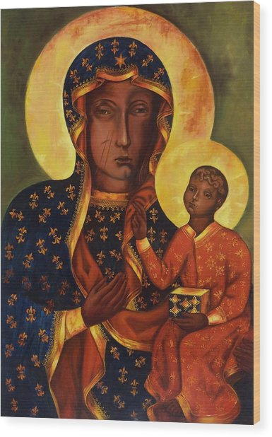 The Black Madonna Of Czestochowa Wood Print