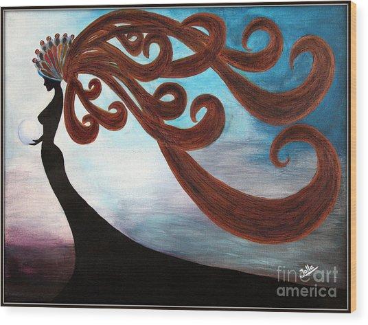Black Magic Woman Wood Print